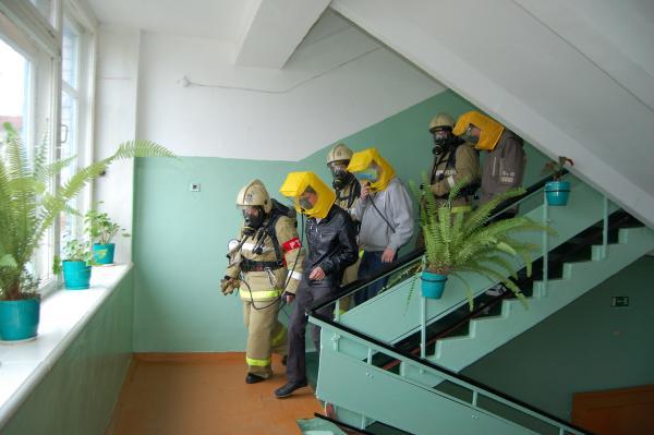 Учения по эвакуации в случае пожара в школе