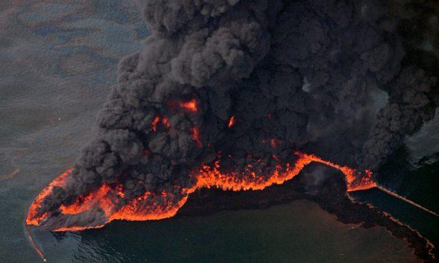 Возгорание нефти