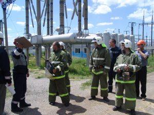 Пожарные на объекте