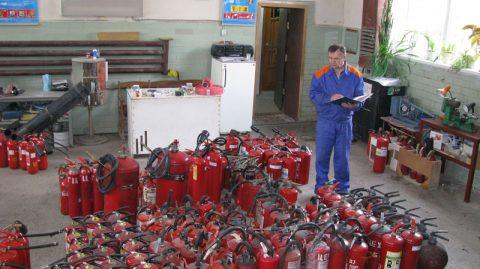 Выбор огнетушителей для проверки