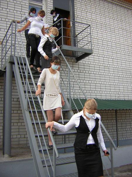 Эвакуация по пожарной лестнице