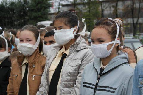 Защита дыхания ватно-марлевой повязкой при пожаре