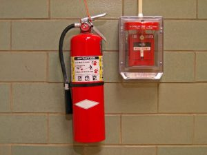 Размещение огнетушителя в здании