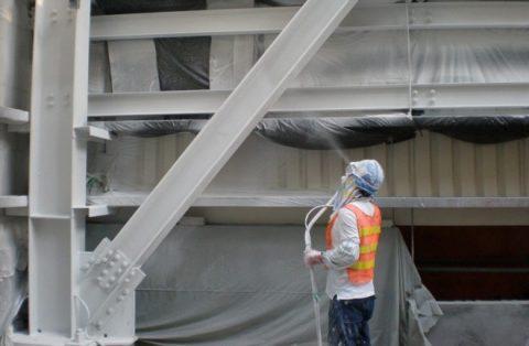 Покрытие металлоконструкций огнезащитной краской