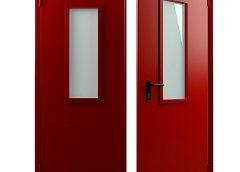 Противопожарная дверь с остеклением