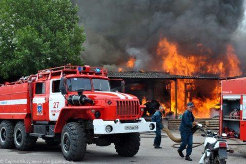 Тушение пожара бригадой