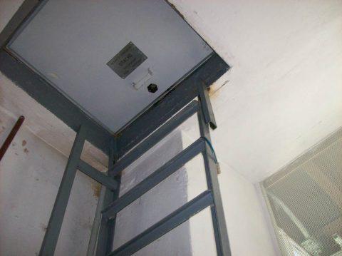 Установка противопожарного люка