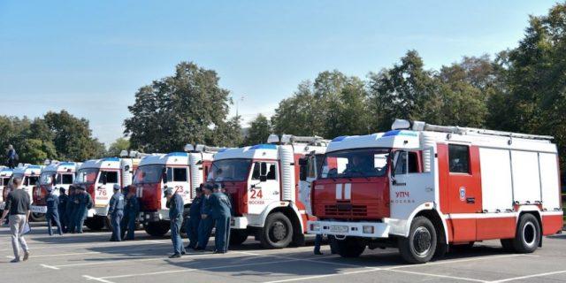 Соревнования водителей пожарных автомобилей