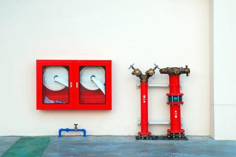 Размещение шкафов с пожарными рукавами