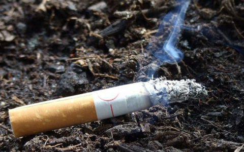 Непотушенная сигарета
