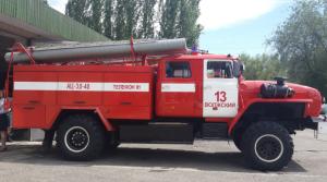 Машина для ликвидации очагов возгорания