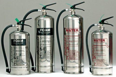 Пенные и водные огнетушители