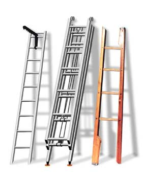 Виды пожарных лестниц: лестница-палка, трёхколленная, штурмовая