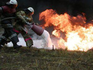 Применение огнетушащего вещестав