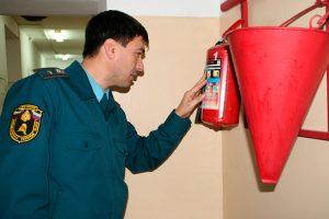 Осмотр пожарного щитка