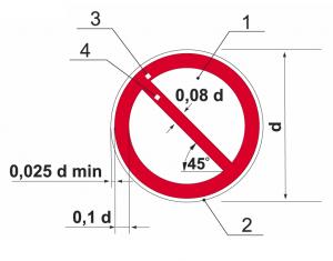 Размеры знаков безопасности