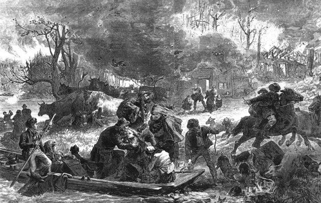 Пожар, Пештиго, 1871