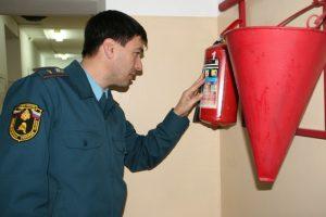 Проверка пожарной безопасности в школе